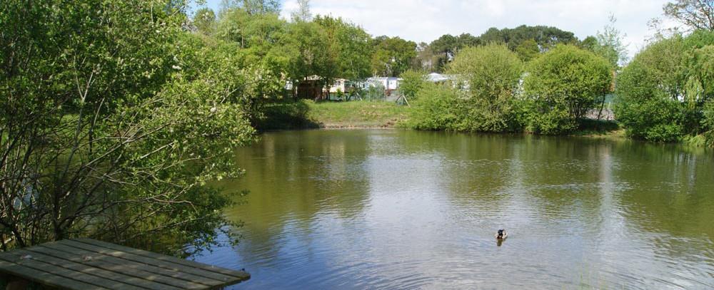 camping avec étang de pêche en Vendée