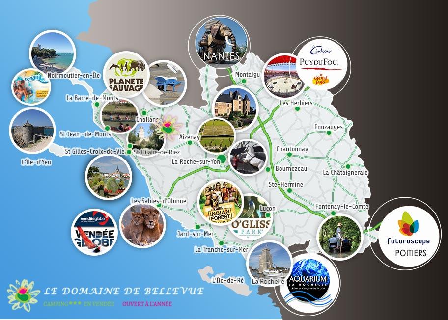 Les loisirs autour du camping Bellevue en Vendée