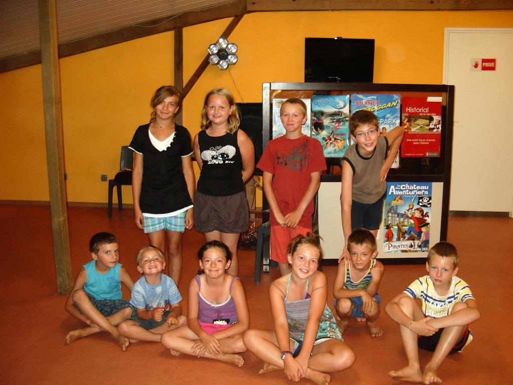 le club enfants du camping en Vendée